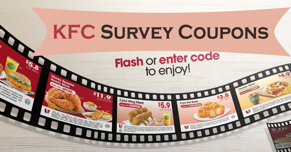 KFC Survey Coupon Image