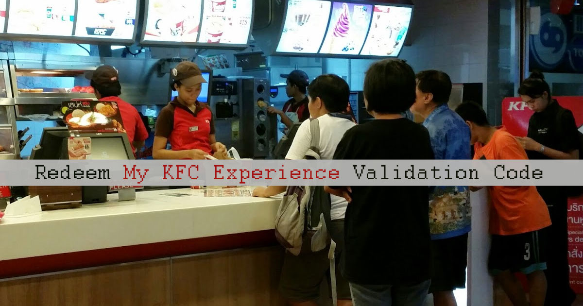 Validation Code for KFC Survey – What's hidden in that code, food or discount?